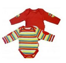 Toby Tiger Organic Cotton Rainbow Stripe Baby T-Shirt Pack of 2