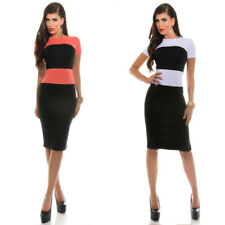 KouCla Pencil Dress In Contrast Stripes And Back Zip Two-tone  - White Black