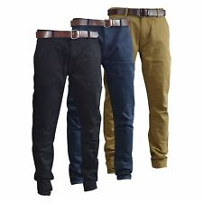 Uomo Pantaloni chino Smith and Jones stratight GAMBA Pantaloni tutte le taglie