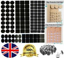Self Adhesive Sticky Felt Pads Black Furniture Tabs Wood Floor Scratch Protector