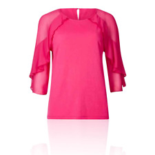 Marks & Spencer M&S T416414D Modal Rich Ruffle Sleeve Jersey Top RRP £22.50