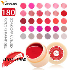 Nail Art Solid Color Nails Polish Soak Off UV Gel Paints Nail Varnish Lacquer