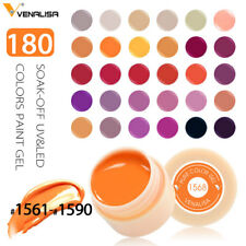 Solid Color Polish UV Gel Soak Off DIY Paints Lacquer Nail Art Tips Manicure