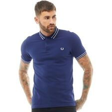 Fred Perry Mens Tramline Pique Polo French Navy SMALL