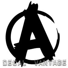 Anarchy Symbol Style B Vinyl Sticker Decal JDM Punk - Choose Size & Color