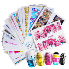 Colorful Nail Art Water Decals Charming Flower Painting Nail Transfer Stickers