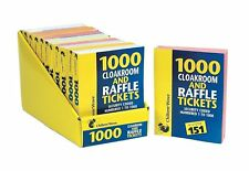 6 Books of Cloakroom Raffle Tombola Draw Tickets Numbered 1 - 500 1- 1000 NEW