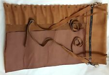 Vintage Tan Real Leather Genuine 10 Pockets Chef Knives Bag/Pouch / Case/Roll