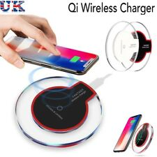 Fast Qi Wireless Charger Charging Dock Pad For Samsung Galaxy For iPhone X S8 UK