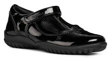 Geox J Shadow A Girls Leather Black Patent School Shoe - 100% Positive Reviews