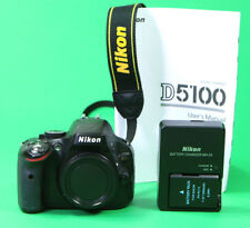 Nikon D5100 DSLR Camera Body, Box, Charger and Battery.  Excellent.  7582 shots
