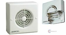 """Manrose XF Auto Shutter Extractor Fan Std Timer Pullcord Humidity 4"""" 5"""" 6"""""""