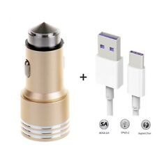 Car Charger Adapter Dual Port & Fast Charging USB Cable Lead For iPhone Samsung