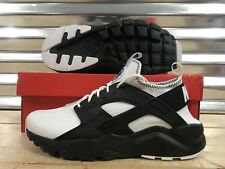 Nike Air Huarache Run Ultra SE Running Shoes White Black OREO SZ ( 875841-100 )