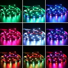 6.6ft 5050 RGB 60 LED Programmable LED Strip Set w/ RF Remote & Music Controller