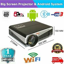 Android WiFi 8000 Lumen LED Home Theatre Projector Multimedia  HDMI HD 1080P DA