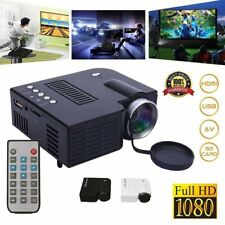 UC28 1080P Mini HD LED Projector Home Cinema Multimedia PC USB TV AV HDMI DVD DA