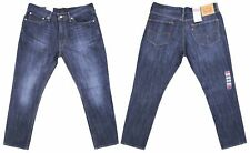 LEVIS 511 (Genuine) For Men, Riveted Slim Fit Jeans Faded In Dark Blue Denim