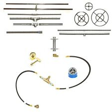 EasyFirePits Pre-Plumbed Gas Fire Pit Kit & Lifetime Warr 316 Stainless Burner