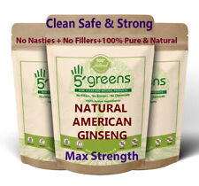 American Ginseng Capsules 10,000mg Strongest & Best Value Natural Veg Capsules-