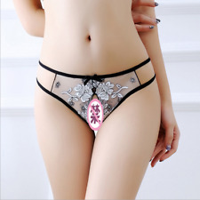 LE Women Sexy Thongs Lace T-back Underwear Lingerie Low waist G-string panties
