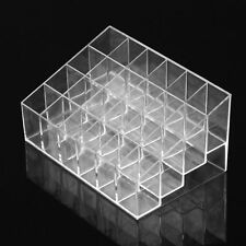 Clear Acrylic 24 Lipstick Holder Display Stand Cosmetic Organizer Makeup Case MX