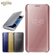 Mirror Flip Case For iPhone X 5 5S SE 7 6 6S 8 Plus Cover Luxury Plating Covers