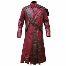 Guardians of the Galaxy Star Lord Peter Quill Men's Trench Leather Coat