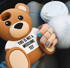iPhone 8 7 6s /Plus 3D Adorable Cartoon Toy Teddy Bear Soft Silicone Case Cover