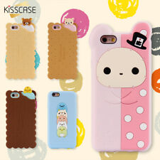 Mobile Cover For iPhone 6 Plus Case 3D Cartoon Bear Duck Biscuit Silicone Cases