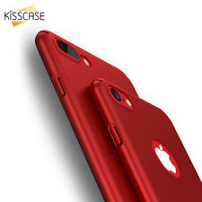 Hard PC Matte Phone Case For iPhone 7 Plus Black Red Ultra Thin Smooth Covers