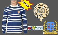 Maglia Uomo Polo Oxford University Rugby manica lunga ORIEL College UK