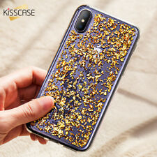 Oro Rosa Pellicola Brillante Paillettes Cover per Iphone 5 6 7 8 Plus GOMMA Casi