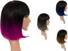 NEW WOMENS LADIES STRAIGHT SHORT CUT OMBRE FULL HEAD BOB STYLE COSPLAY WIG