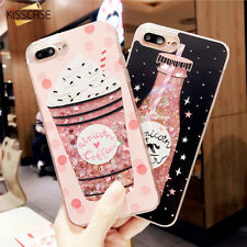 Mobile Christmas Case For iPhone 6 6S 7 8 Plus Luxury Silicon Pink Glitter Cover