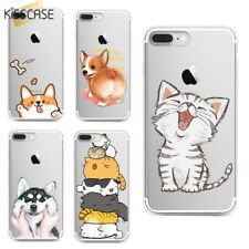 Gatto Nero Cover per Iphone 5S se 6 6S 7 8 Plus Trasparente Trasparente Custodie