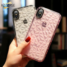 Shockproof Clear Diamond Case For iPhone 8 Plus Luxury Soft Clear Covers Shell