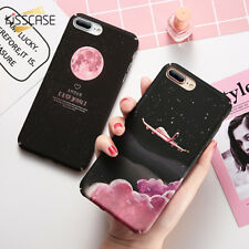 Matte Case Aircraft Moon Starry Sky Hard PC Cover For iPhone 5 5s 6 6S 7 Plus