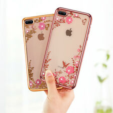 Mobile Cases Pink Silicon Transparent Covers For iPhone 8 Plus Gold Green Case