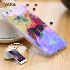 Custodia Cellulare Blu Ray Luce Trasparente Cover per Iphone x 6 6S 7 8 Plus