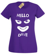 Hello Dave T-Shirt Donna Divertente Retrò League Of Gentiluomo Donna Idea Regalo