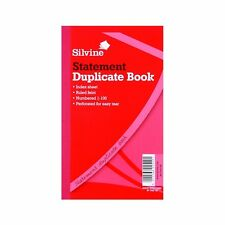 "SILVINE STATEMENT DUPLICATE ACCOUNTS BOOK RULED & FEINT WITH CARBON 8 X 5"" - 609"