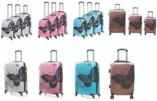 Butterfly Print 4 Wheel Spinner Suitcase PC Hard Case Luggage Trolley Case Cabin