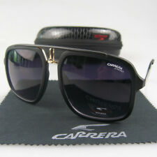 Aviator Men Women Retro Sunglasses Fashion Square Matte Eyewear Carrera Glasses