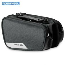 Bicycle Top Tube Pannier Bike Frame Bag with Phone Mount Holder water resistant