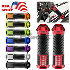 "Motorcycle Hand Grips Rubber 7/8"" Handle Bar For Honda Suzuki Kawasaki Yamaha 07"