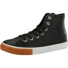 Converse Chuck Taylor All Star Gum Hi Nero In Pelle Gioventù Trainers