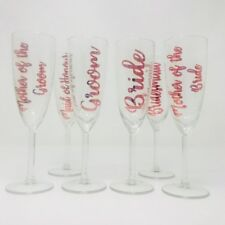 Personalised champagne flutes glasses, wedding, bride, groom, bridal party