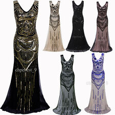Long Wedding Formal Dresses Prom Formal Occasion Bridesmaids 20's Evening Gowns