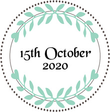 PERSONALISED ROUND STICKERS LABELS WEDDING FAVOUR MATT GLOSS TRANSPARENT WNO.5